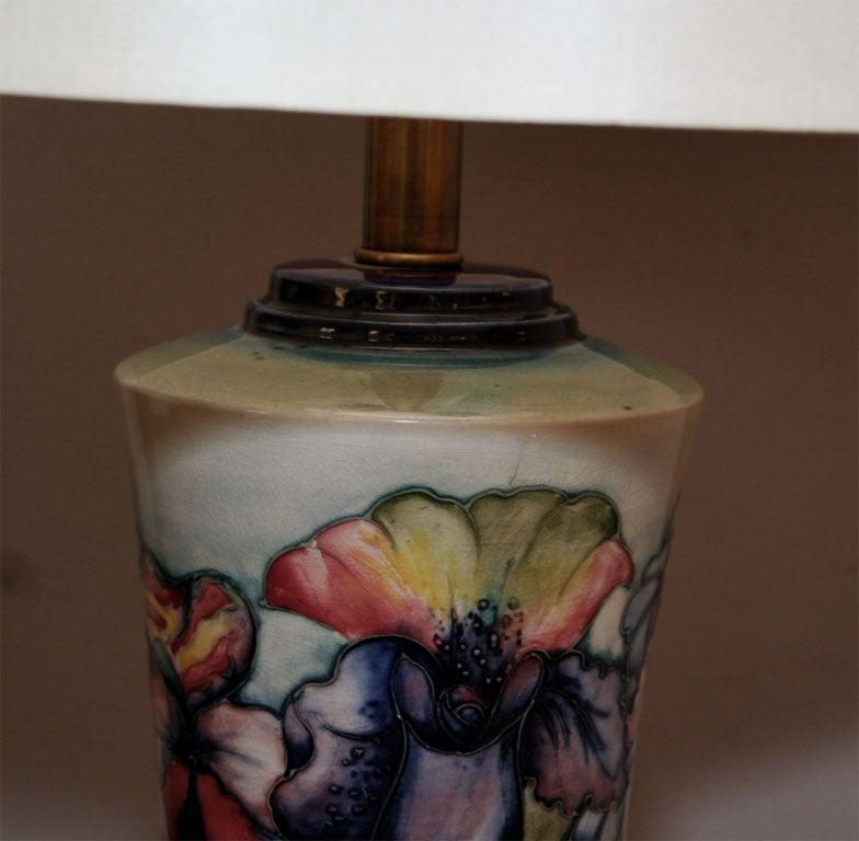 Moorcroft Art Deco pair of ceramicTable Lamps  6