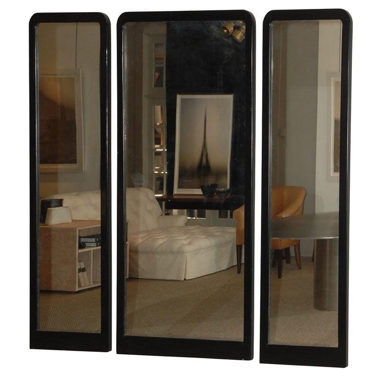 Cheval floor mirror black