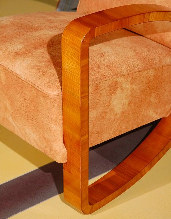 Art deco lounge chair at 1stdibs - Deco lounge parket ...