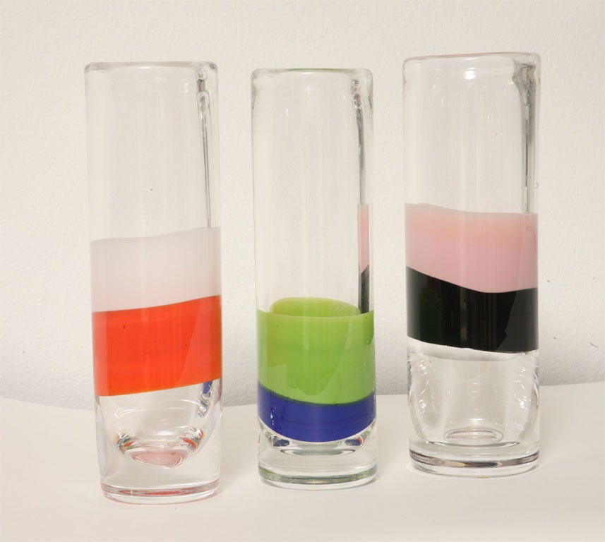 Late 20th Century Set of Orrefors Vase's For Sale