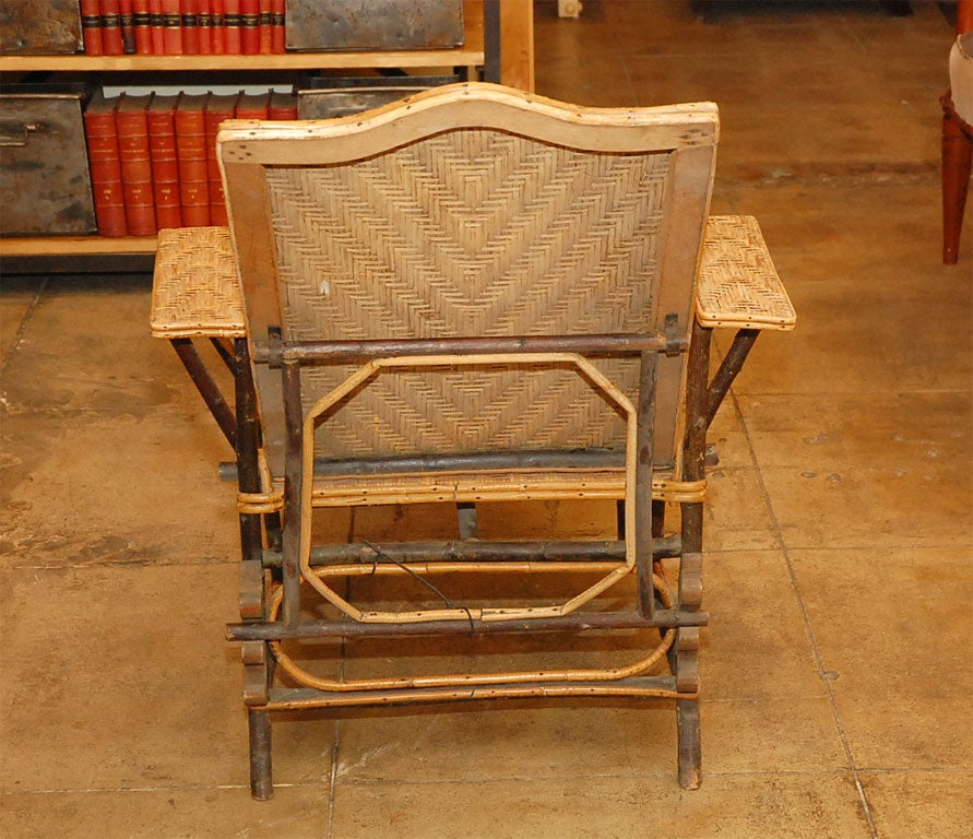 Wicker chaise lounge at 1stdibs for Chaise lounge construction