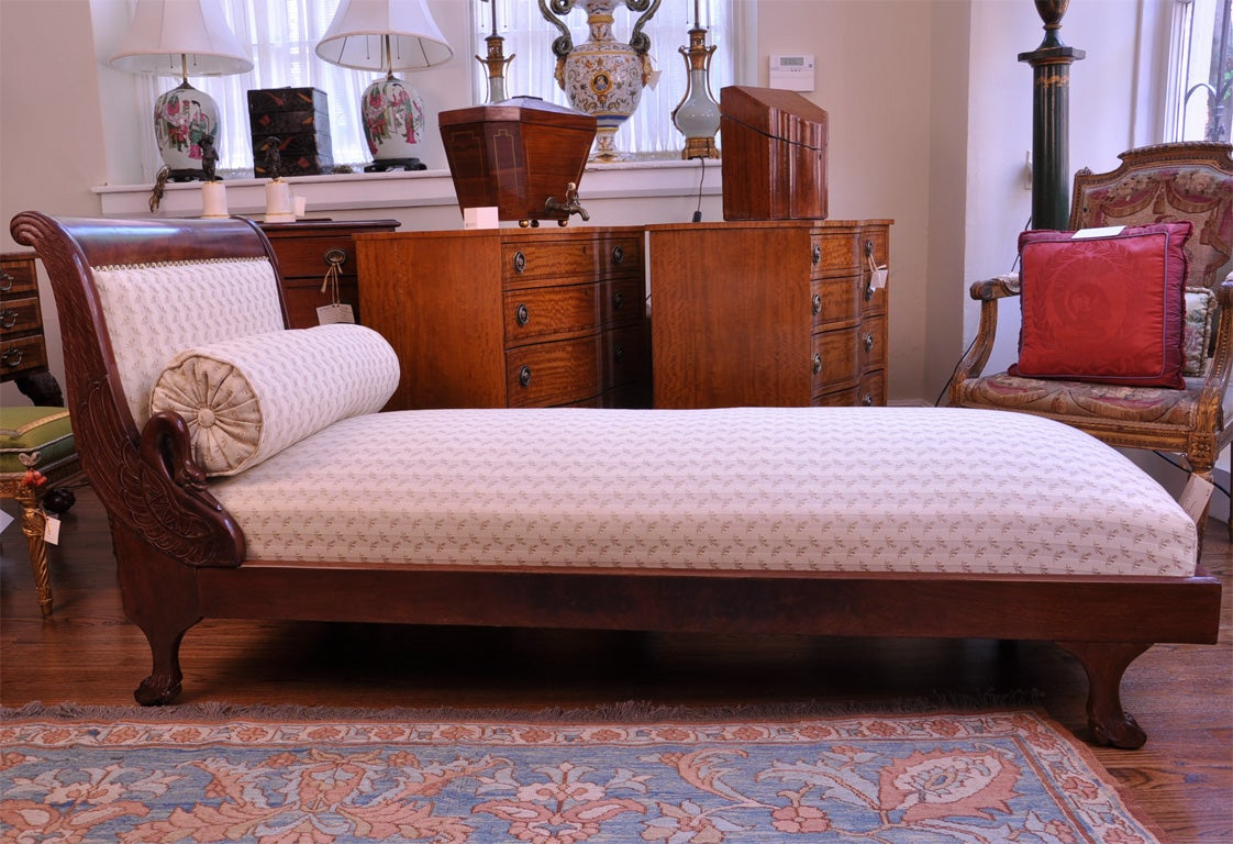 empire mahogany lit de repos daybed at 1stdibs. Black Bedroom Furniture Sets. Home Design Ideas