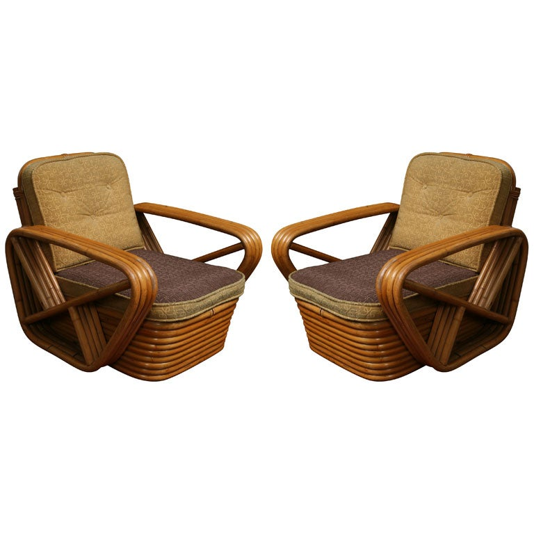 Pair Of Bamboo Childrens Chairs At 1stdibs