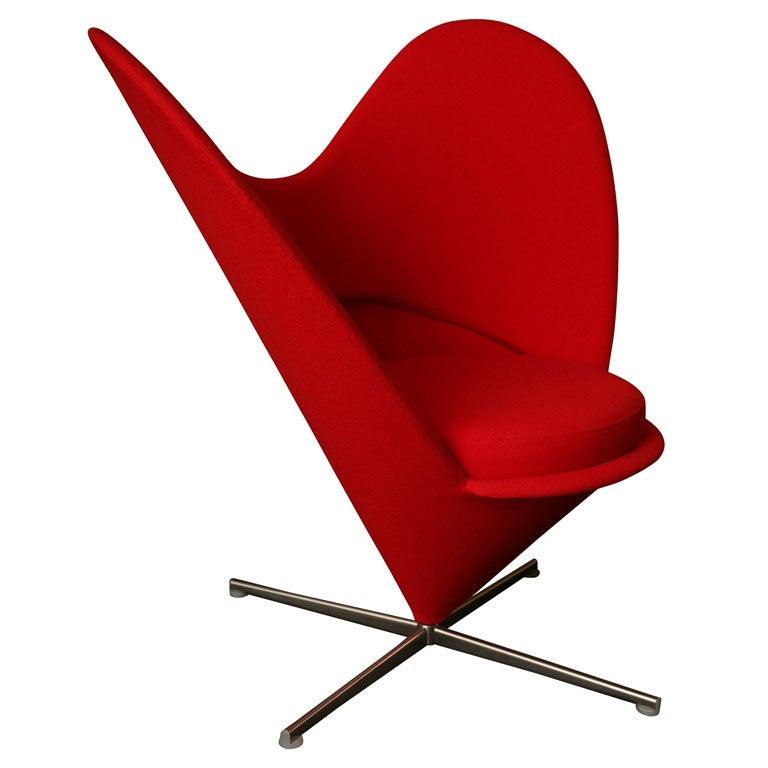 Verner Panton Heart Cone Chair At 1stdibs