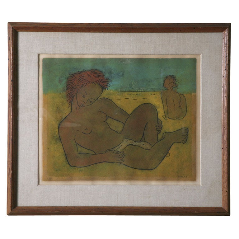 "Angel Botello ""Sunning Nudes"" Framed For Sale"