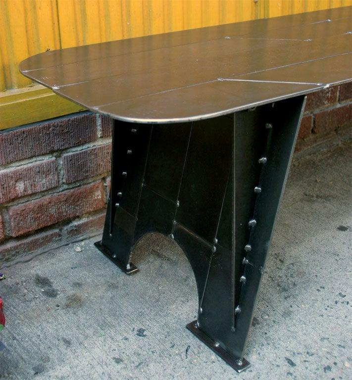 Metal Scrap Bench At 1stdibs