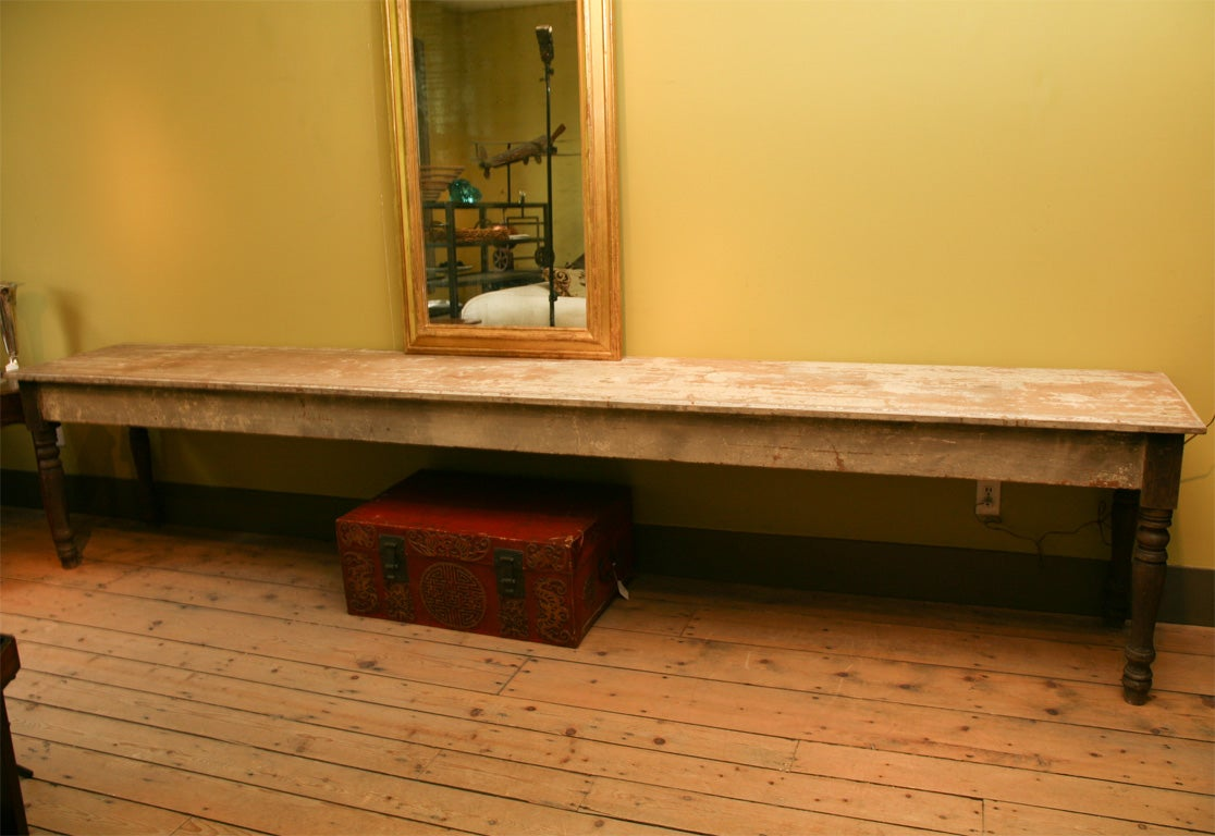 12 foot dining room table | 12 Foot Long Country Table at 1stdibs