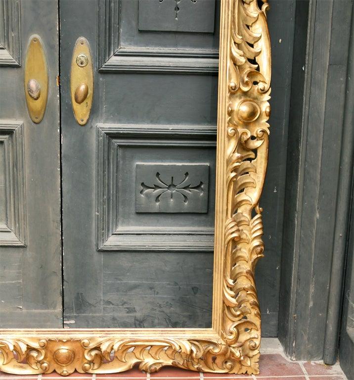 19 C Italian Carved wood Gilt Frame  3