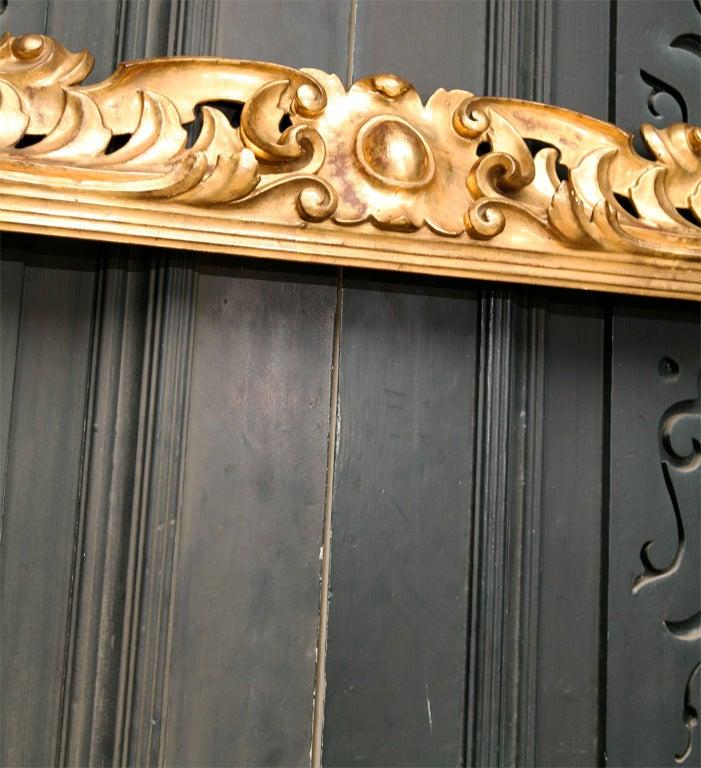 19 C Italian Carved wood Gilt Frame  5