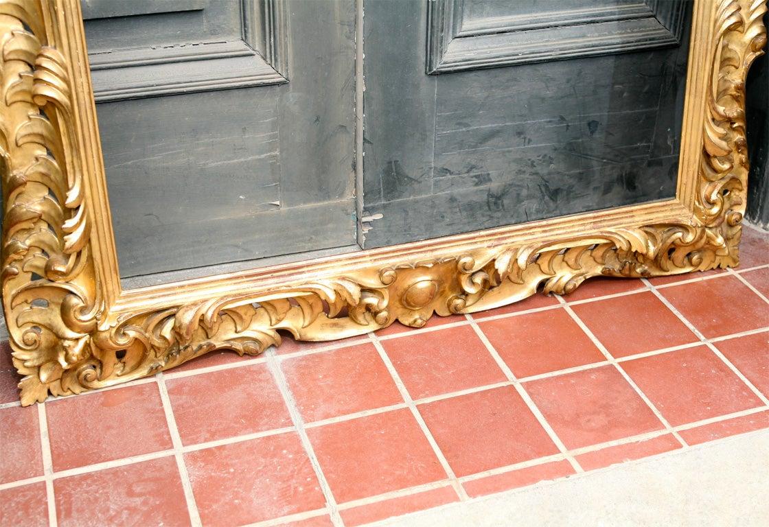 19 C Italian Carved wood Gilt Frame  6