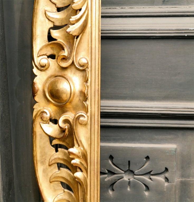 19 C Italian Carved wood Gilt Frame  7