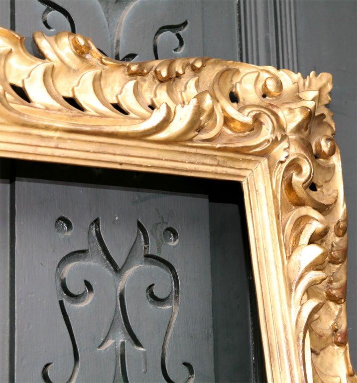 19 C Italian Carved wood Gilt Frame  8