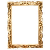 19 C Italian Carved wood Gilt Frame