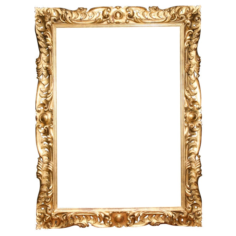 19 C Italian Carved Wood Gilt Frame For Sale At 1stdibs