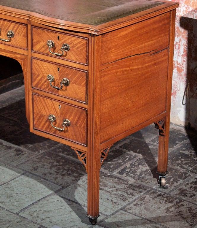 English Antique Writing Desks ~ Antique english satinwood kneehole writing desk at stdibs
