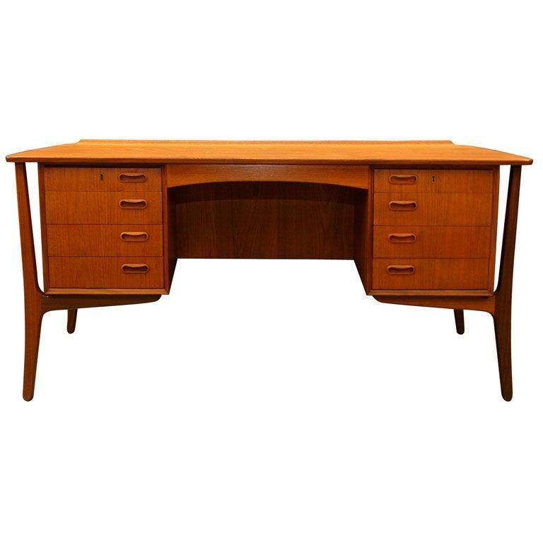 Bowed Teak Desk