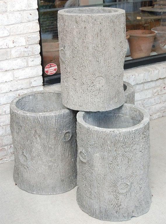 Faux Bois Beton : Concrete Faux Bois Planters