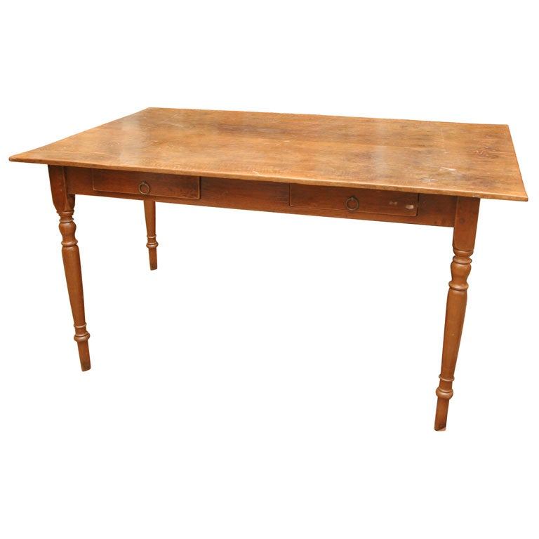 2 drawer desk dining table at 1stdibs Dining table with drawer
