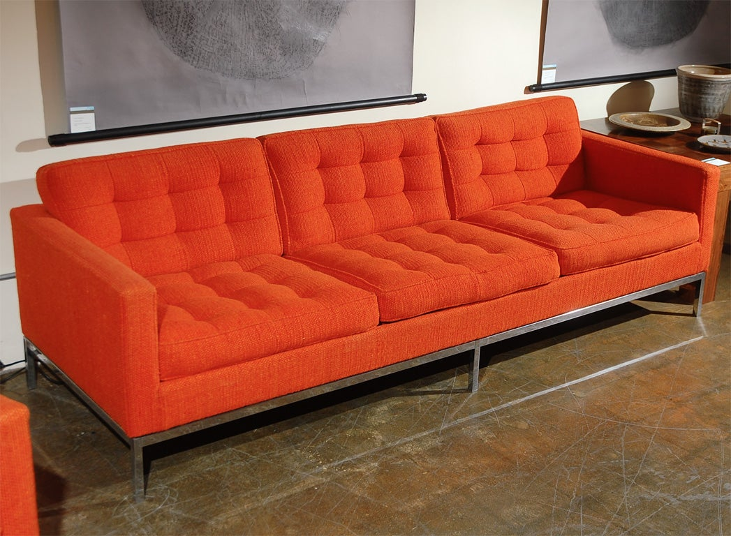 Sofa And Chair By Florence Knoll For Knoll Associates At