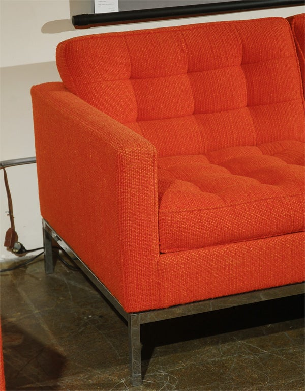 Sofa and chair by florence knoll for knoll associates at for Knoll associates