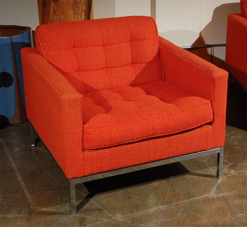 Sofa and chair by florence knoll for knoll associates at for Knoll and associates