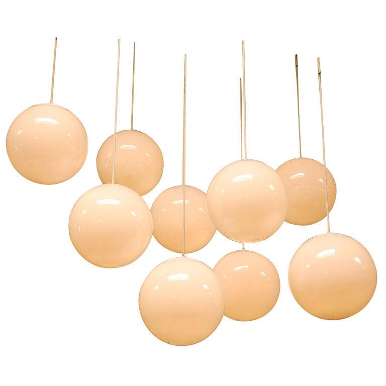 Set Of 9 Putzler Hanging Lights At 1stdibs