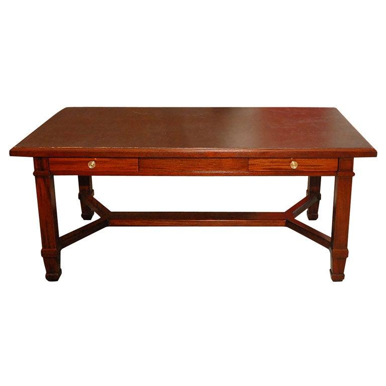 Large Solid Mahogany Desk At 1stdibs