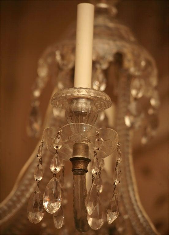 Georgian Six-Light Crystal Chandelier For Sale 2