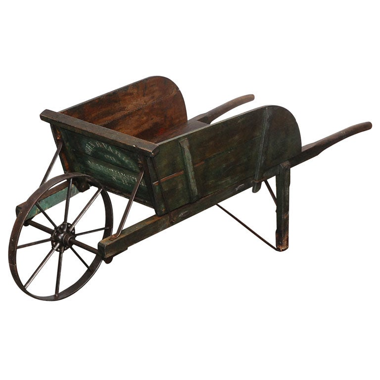 New England Painted Wheelbarrow At 1stdibs