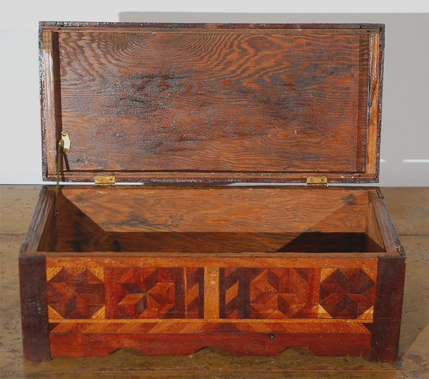 Eunice (LA) United States  city photo : 19THC FOLKY INLAID HANDMADE BOX W/