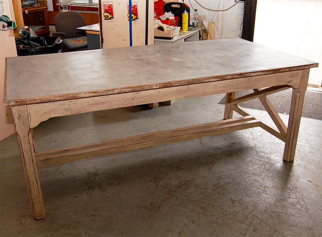 zinc dining table with extension leaves at 1stdibs