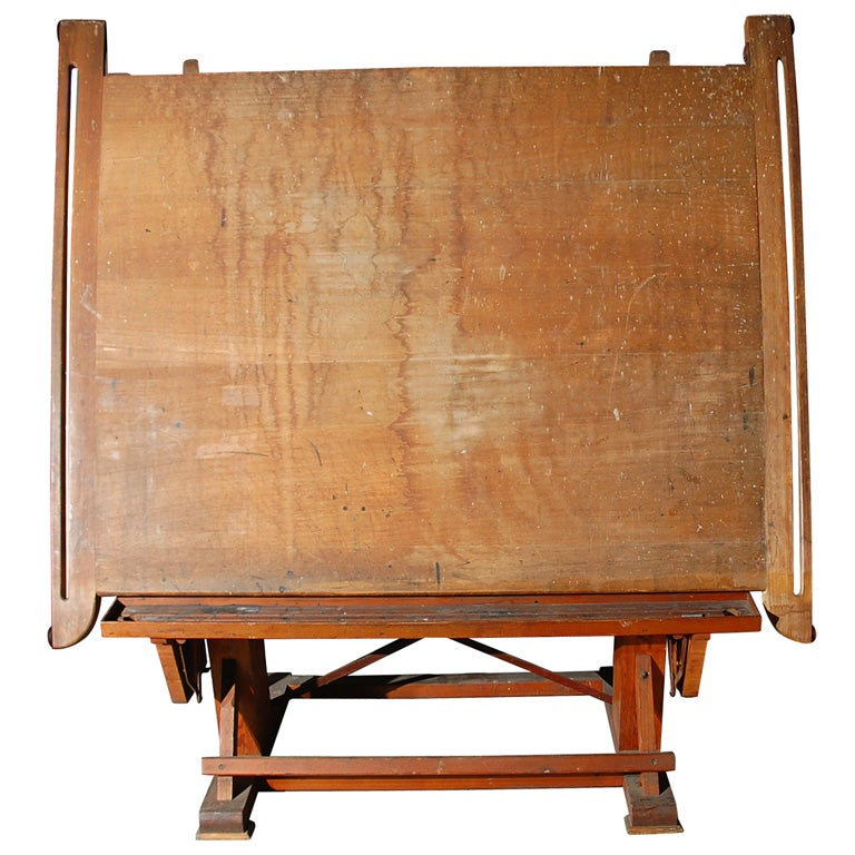 vintage wood drafting table at 1stdibs