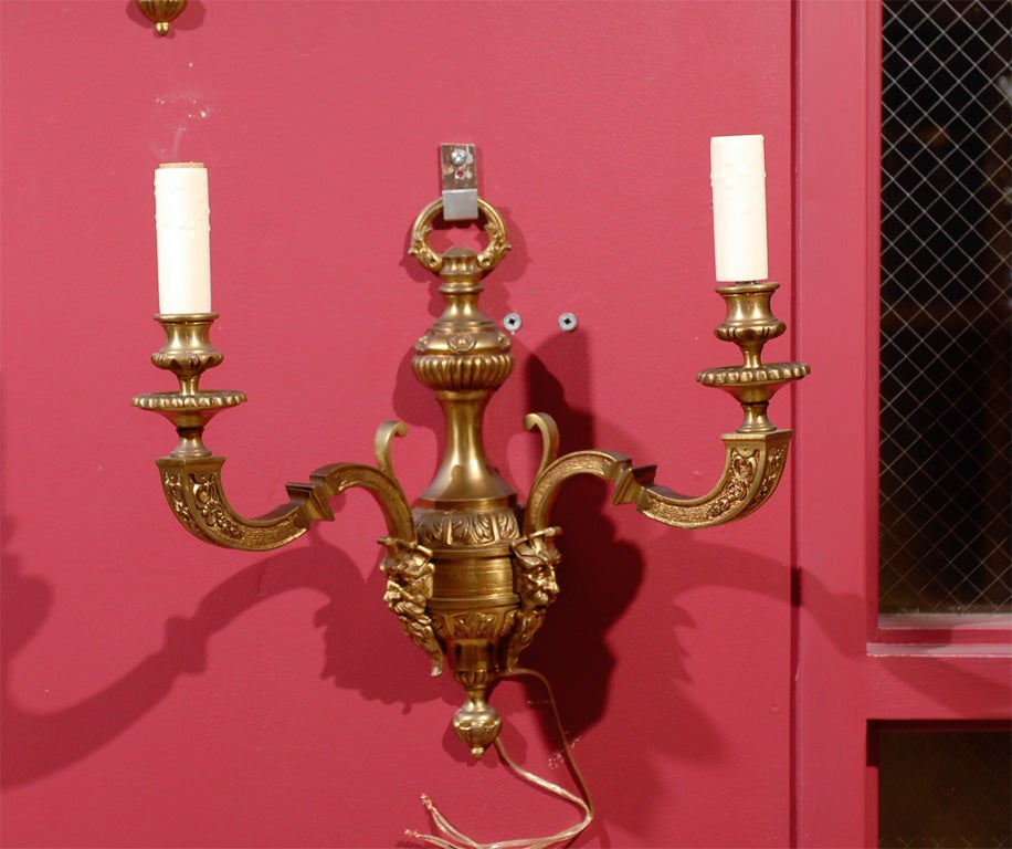 Louis XIV Gilt Bronze Wall Sconces For Sale