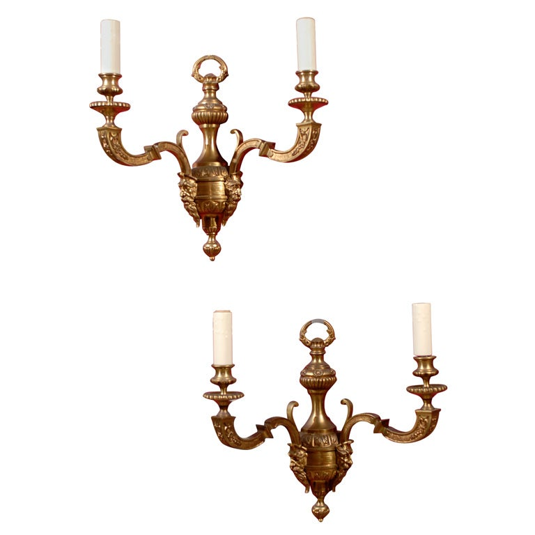 Gilt Bronze Wall Sconces For Sale