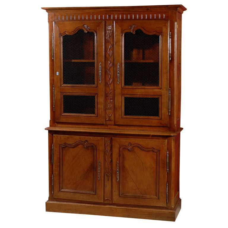 French Provincial China Cabinet Circa 1800 For Sale At