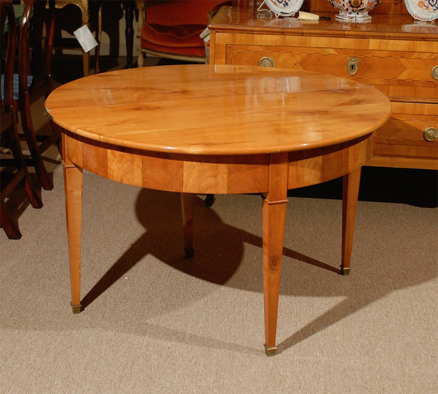 Restoration Period Demi Lune Flip Top Table Ca 1830 For Sale At 1stdibs