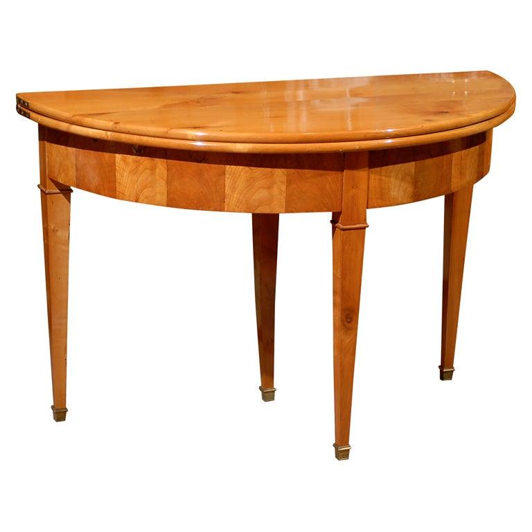 Restoration Period Demi Lune Flip Top Table Ca 1830 For