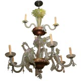 Large Venetian Glass Chandelier