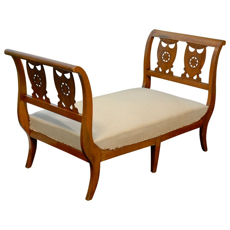 18th century directoire lit du repos in cherry at 1stdibs - Tete cherry bed ...