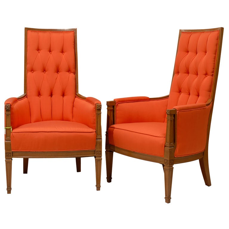 Pair of French Provincial Occasional Chairs at 1stdibs