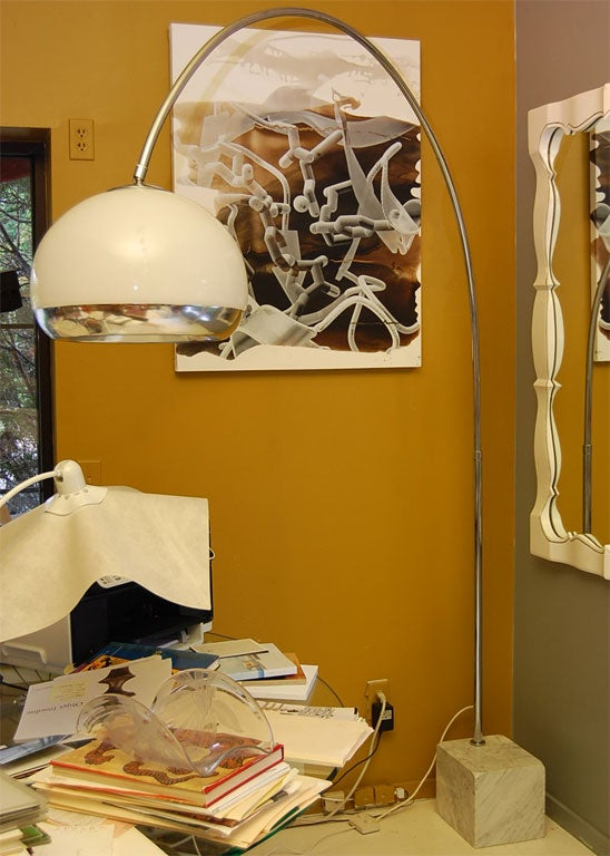 1960s Arch Floor Lamp By Guzzini At 1stdibs