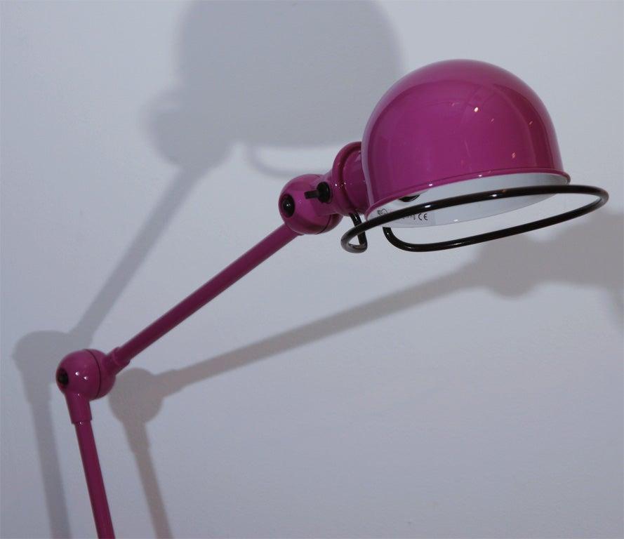 Purple two arm jielde quotloftquot floor lamp at 1stdibs for 5 light floor lamp purple
