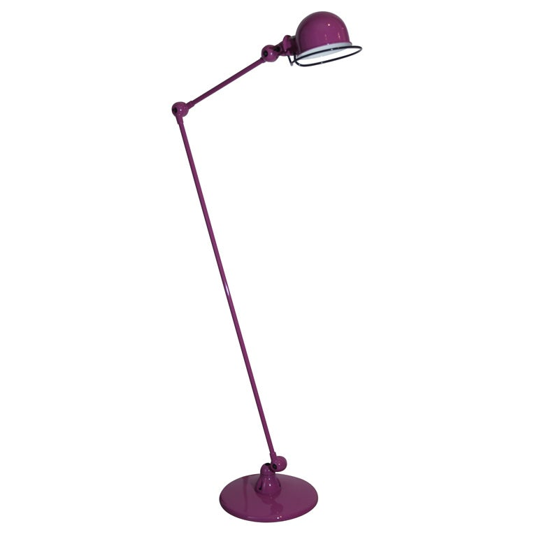 Purple two arm jielde quotloftquot floor lamp at 1stdibs for 5 arm floor lamp purple