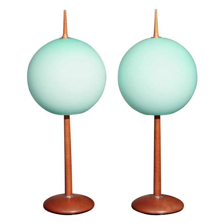 Gorgeous Pair Of Italian Table Lamps At 1stdibs