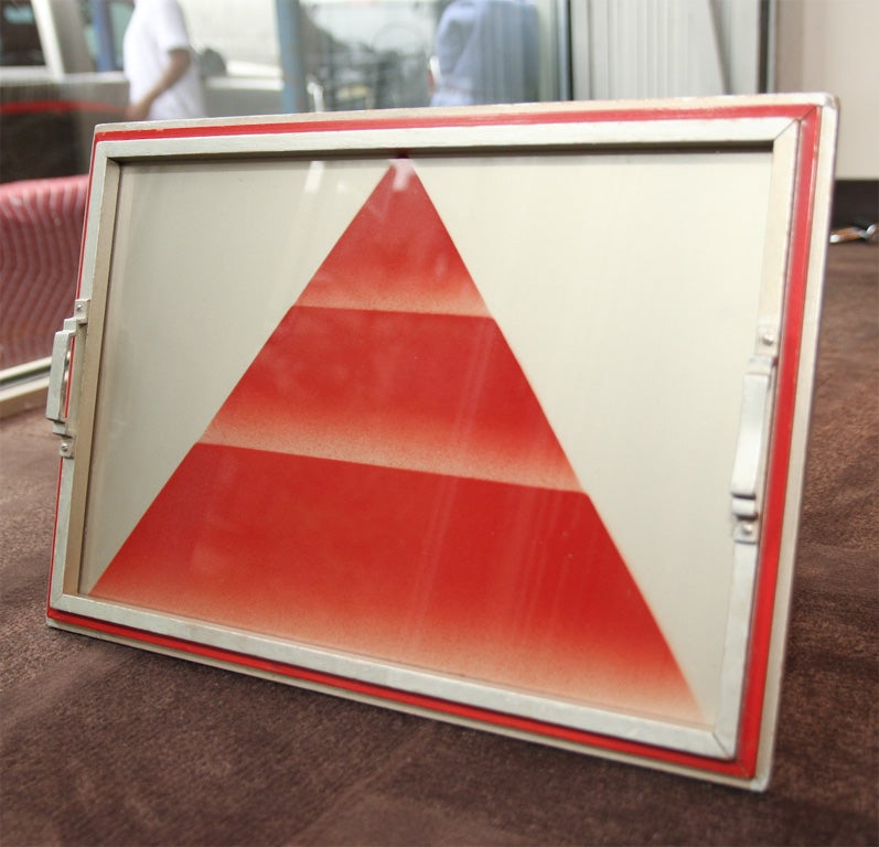 Art deco bar tray with stylized pyramid design at 1stdibs - Deco bar design ...
