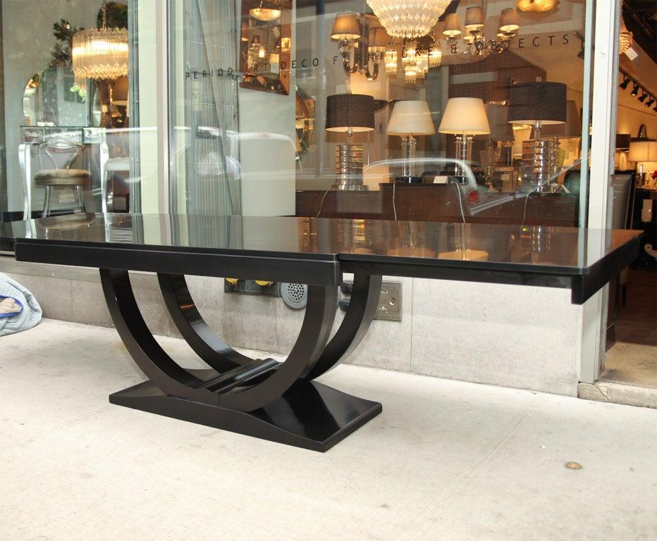 Art Deco Dining Table in Ebonized Walnut at 1stdibs