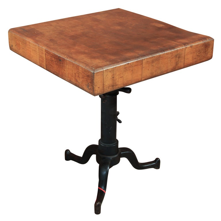 Cast Iron Adjustable Base Table At 1stdibs