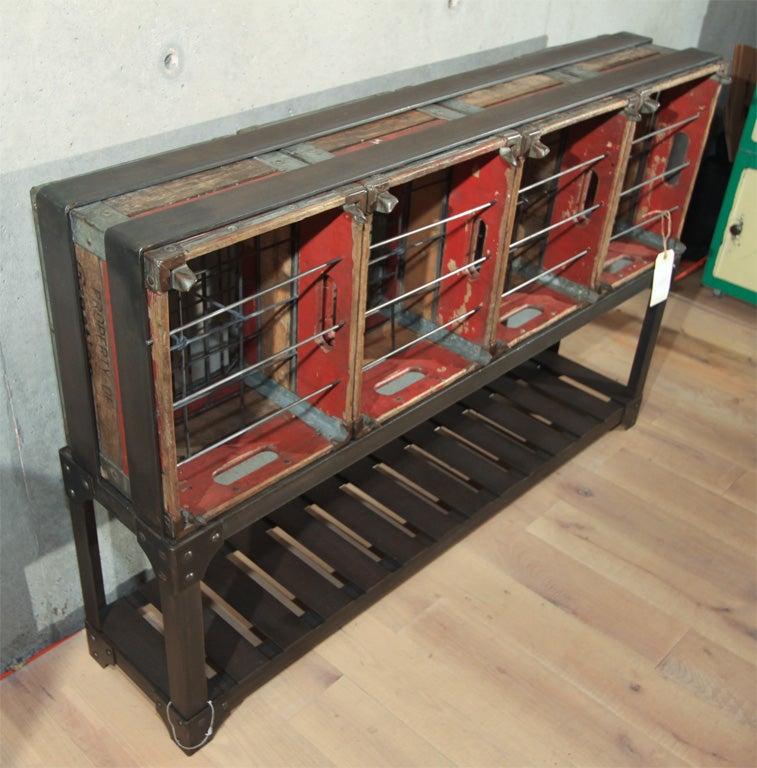 vintage milk crate wine rack at 1stdibs