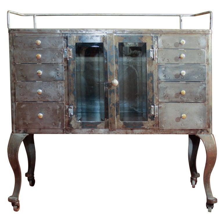 steel dental cabinet at 1stdibs. Black Bedroom Furniture Sets. Home Design Ideas