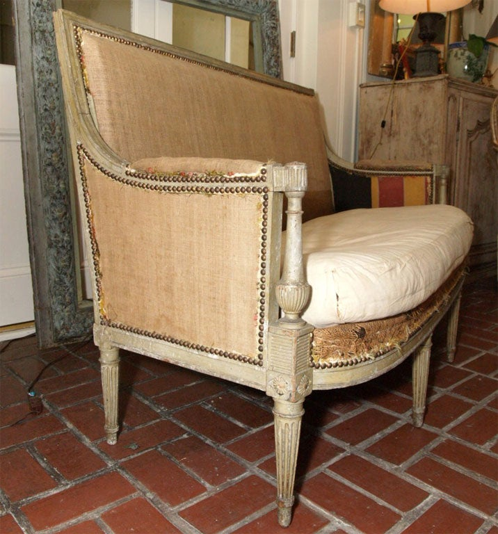 7256 petit directoire style canape at 1stdibs for Petit canape